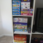 These are a few of their games, we have more kids and adult games in our other closet.