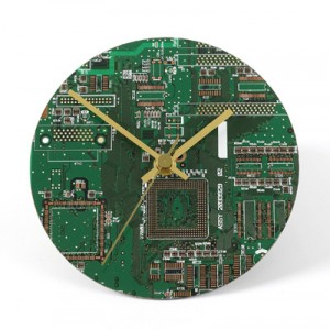 Circuit-Board-Wall-Clock-
