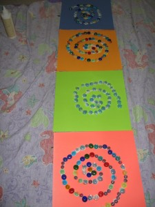 Swirly glass bead art. (non-living) :-)