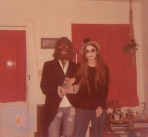 Mom as Alice Cooper and Dad as a werewolf.