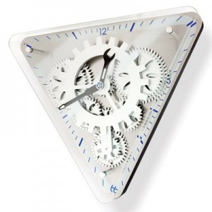 Glass-Covered-Triangle-Gear-Clock